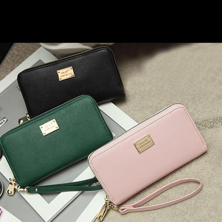 2015 Hot Leather Women Wallets Ladies Wallet Zipper Roomy Coin Purse Female Credit Card Wallet Purses Money Bag Free Shipping Yo