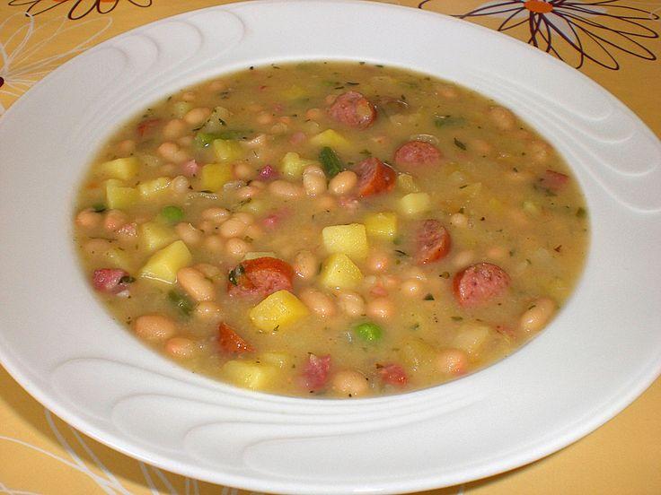 Weiße Bohnen-Suppe, ein sehr schönes Rezept aus der Kategorie Eintopf. Bewertungen: 11. Durchschnitt: Ø 4,1.