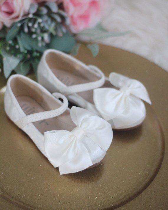 54234c1271f3 OFF WHITE Satin maryjane flats with satin ribbon bow- perfect for weddings