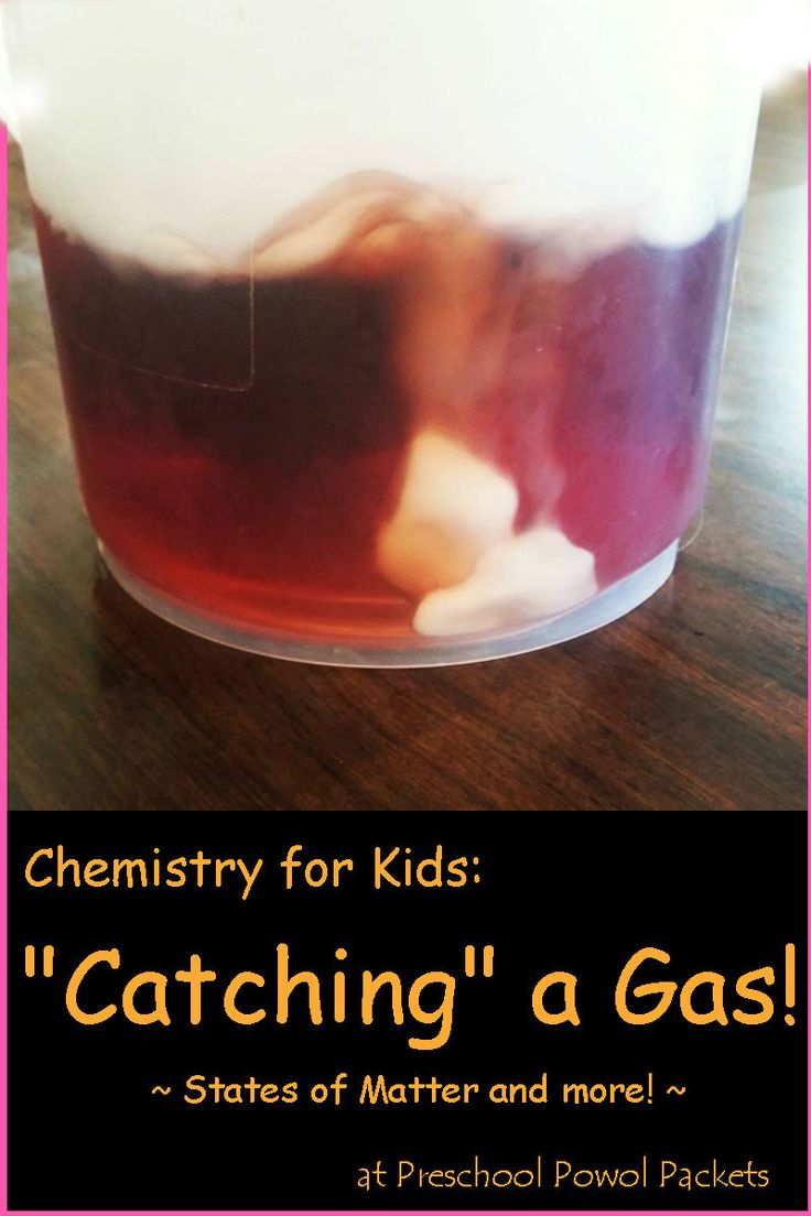 Fun chemistry for kids! Science experiment perfect for preschool and older kids too!