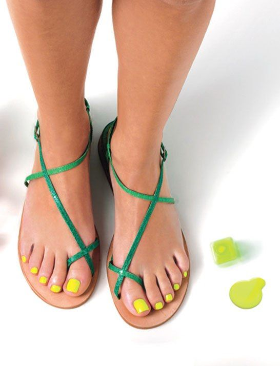 Newest Spring Color for your Pedicure is Yellow! pedicure springpedicure summerpedicure