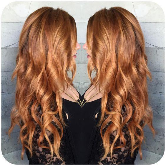 The 25 best golden copper hair ideas on pinterest golden red glam hair salon added a new photo pmusecretfo Gallery