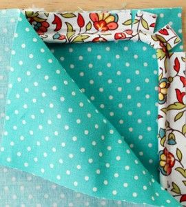 How to Sew Piping: Pillow pieces and pinned piping