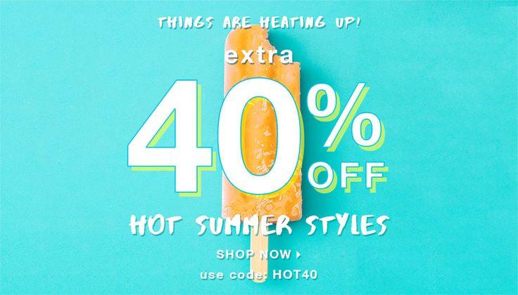 Extra 40% Off Hot Summer Styles With Code: HOT40        http://www.shoemetro.com/?utm_campaign=cj_affiliate_sale&utm_medium=affiliate&utm_source=cj&utm_content=7901896&utm_term=11553970