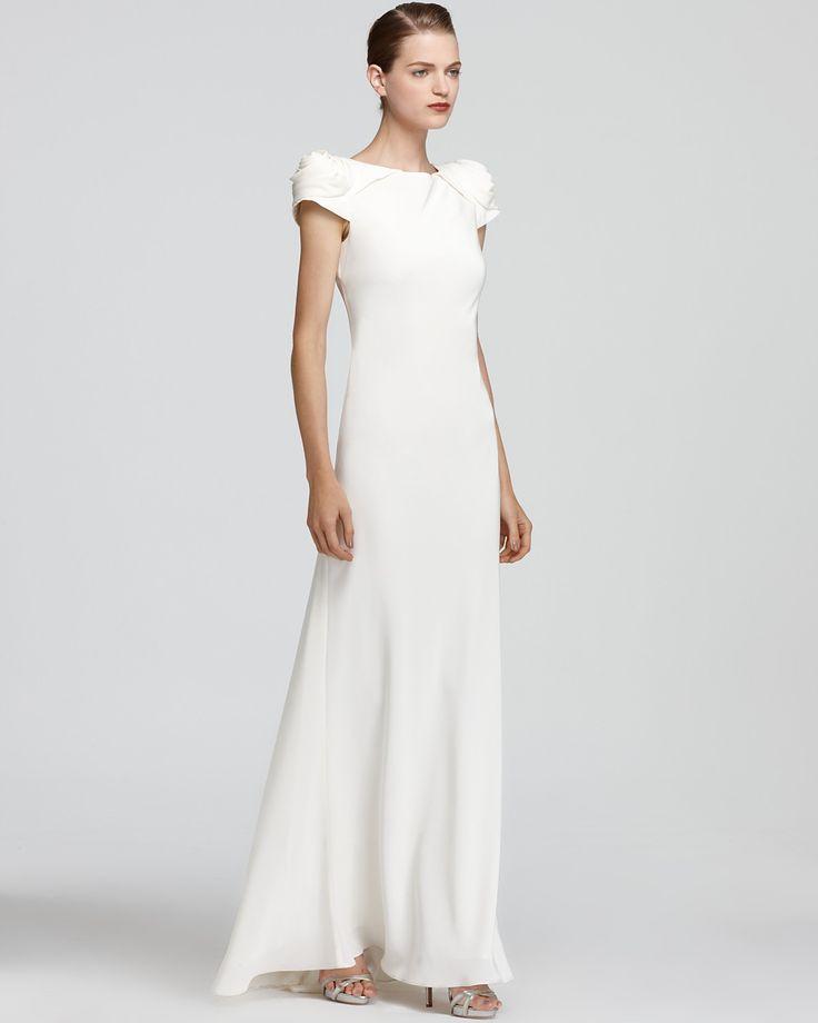 94 best wedding dresses images on pinterest afternoon tea aidan abs by allen schwartz gown rosette shoulder junglespirit Images