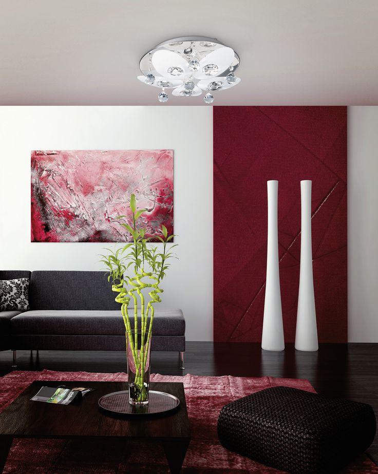 Eglo Lighting / Tessera / Clear Crystal Glass with Polished Chrome Frame