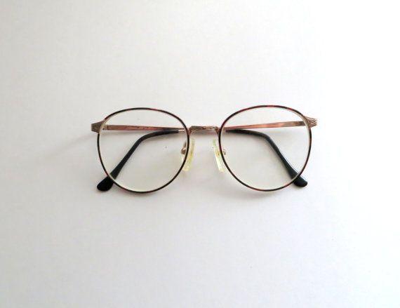 80's Wire Rim Glasses Tortoise