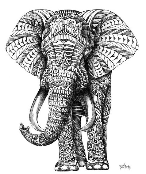Make a contour of an animal and fill it in with zentangle patterns. Watercolor over sharpie?