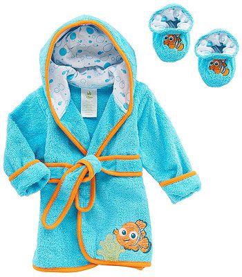Disney Baby Nemo Robe and Bootie Set