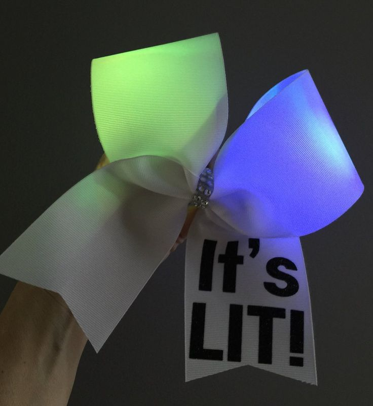 It's LIT! Light Up COLOR CHANGING Cheer Bow