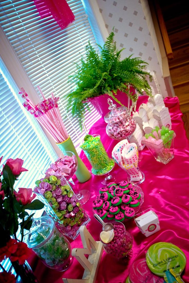candy buffet,