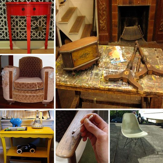 30 Ways to Repair, Restore, or Redo Any Piece of Furniture.  keep this for referenceFurniture Restoration, Restoration Furniture, Furniture Repair, Furniture Makeovers, Apartments Therapy, Furniture Flip, Furniture Redo, Repair Restoration, Redo Furniture