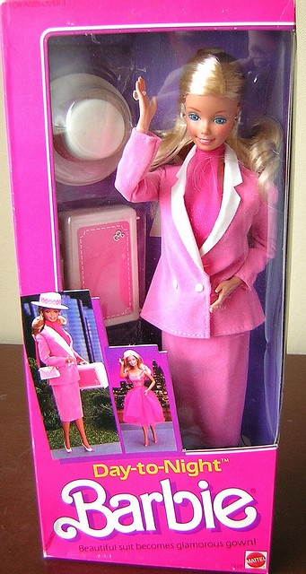 Day to Night Barbie. Loved changing her outfit. One of my last Barbies. Also had her office/bedroom. Now that I think about it, I'm pretty sure Day to Night Barbie was an escort.