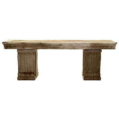 Large Cement Bench     was $349.99 now $174.99   SKU 115296   14 inches wide x 49 inches long x 17.5 inches high