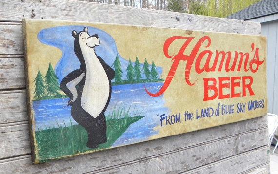 Original #  Hamms beer  sign  by   ZekesAntiqueSigns@etsy