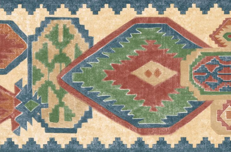 """SOUTHWEST 9 3/8"""" WIDE COUNTRY SOUTHWESTERN Wallpaper bordeR Wall #MOULDING"""