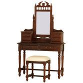Found it at Temple & Webster - 6 Drawer Classique Dressing Table and Stool