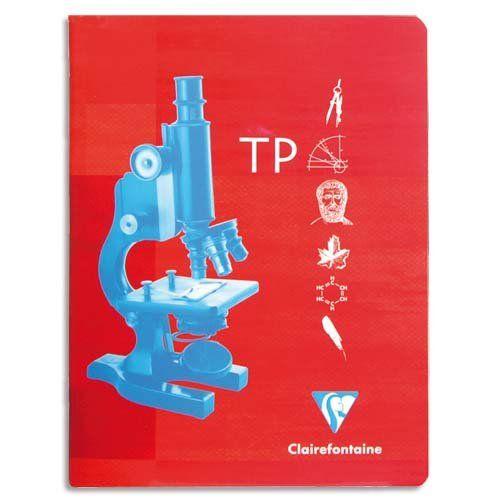 Clairefontaine - Metric - 3377 - Cahier travaux pratiques reliure piqûre - 24 x 32cm - 32 pages unies 120 g + 32 pages grands carreaux 90 g