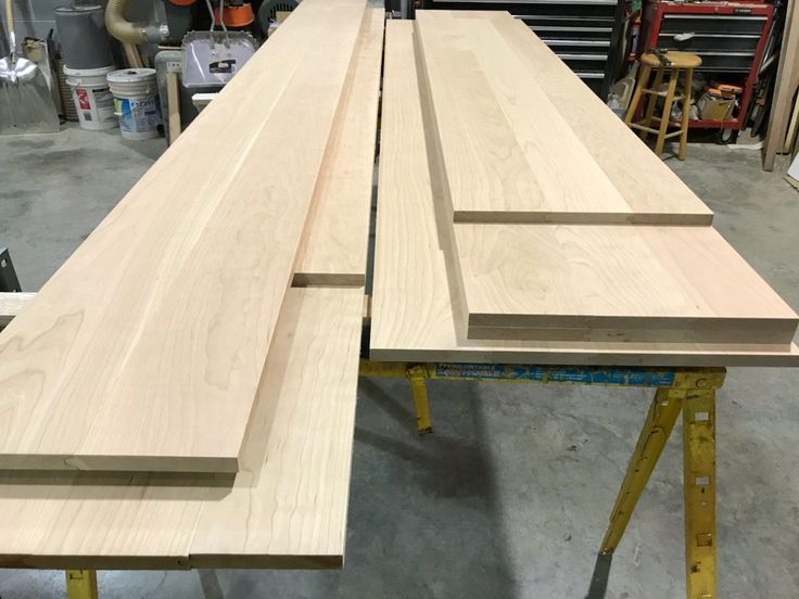 We Just Finished Making These Seven Custom Bar Top Kits From American  Cherry, Ready To Ship Together With The Bar Rail Molding To Our Customer In  Illinois.
