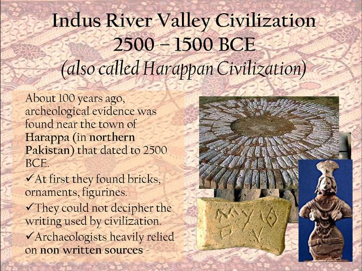 Indus River Valley Civilization 2500 1500 BCE (also called ...