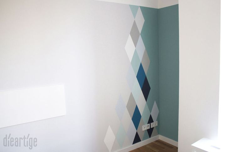 Wandgestaltung // RautenLook