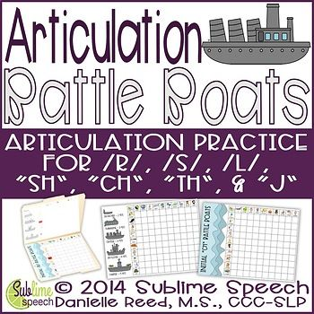 Articulation sessions will be exploding with fun when you use this classic battle boats game infused with articulation practice.  Students play by the classic Battleship rules to give coordinates but use speech words instead of numbers and letters.   Included in this material: Initial/Medial/Final positions of /r/ Battle Boats boards with visual cues Initial/Medial/Final positions of /s/ Battle Boats boards with visual cues ...