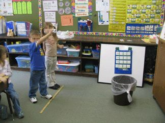trashcan basketball...you get a shot if you can read the sight word