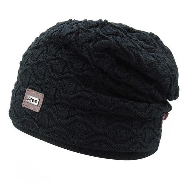 6a8d4f82bd158 Men s Winter Hat Skullies Beanies Cap Knitting 2017 Winter Bonnet Warm Wool  Knit Outdoor Sport Beanies