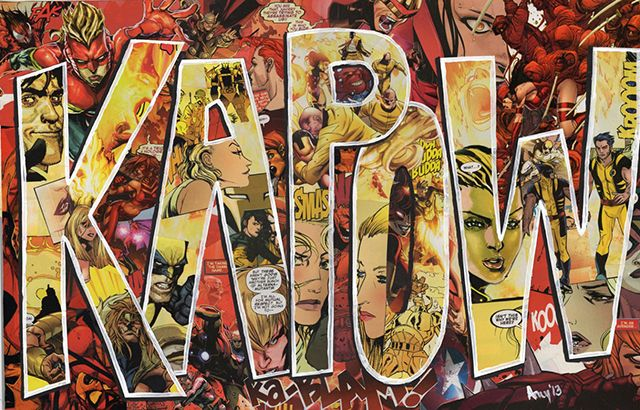 Artist Turned Old Comic Books Into Collages That Spell Out Signature Sound Effects