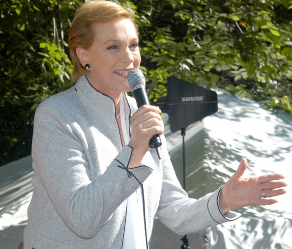 Julie Andrews during Julie Andrews and Emma Walton Hamilton at New York Is Book Country Book Festival at Washington Square Park in New York City New...
