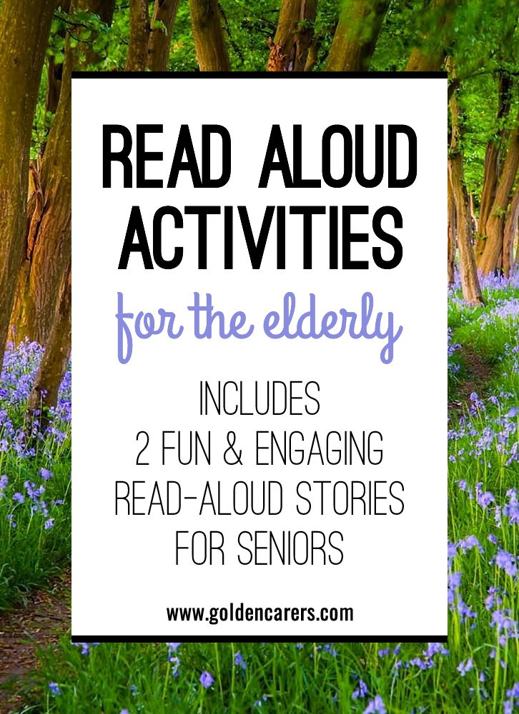 For the elderly who loved to read all their lives, listening to someone read to them can bring profound comfort and joy. Why not start a Read-Aloud Readers Grou