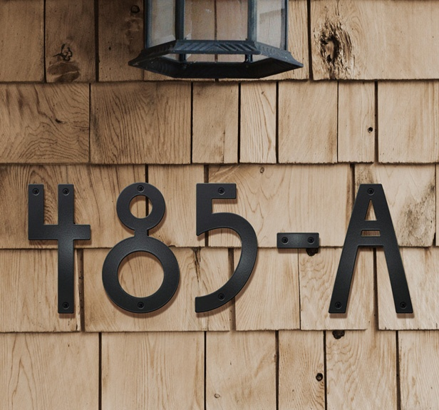 Font styles for house numbers