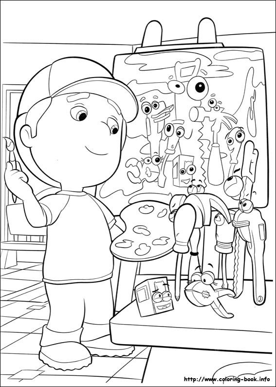 57 best Disney Handy Manny Coloring Pages Disney images on ...