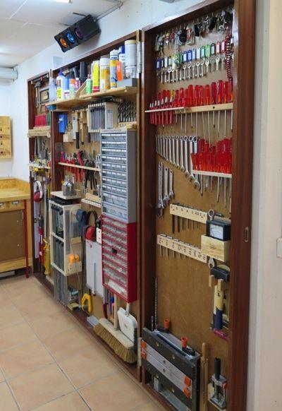Abschliessbare Werkzeugwand für Heimwerkraum