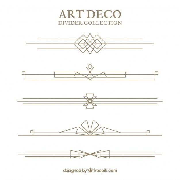 Download Dividers Collection In Art Deco Style For Free Art Deco Fashion Art Deco Design Graphics Art Deco Borders