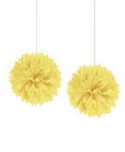 Sarı Dekoratif Ponpon Pratik Süs Seti Online Parti Malzemeleri Satın Al