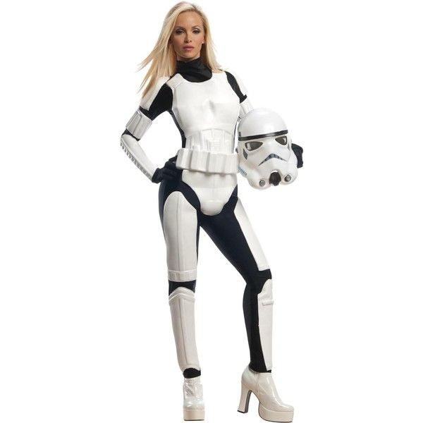 Star Wars Stormtrooper Adult Costume featuring polyvore women's fashion clothing costumes halloween costumes star wars leia costume adult darth vader costume adult princess leia costume adult halloween costumes party halloween costumes