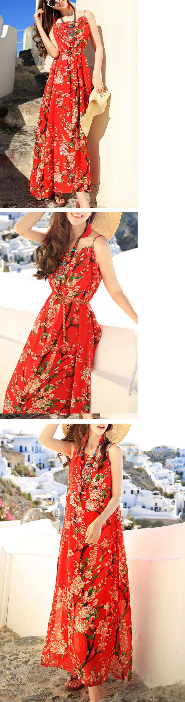 Red Cami Dress with Sash