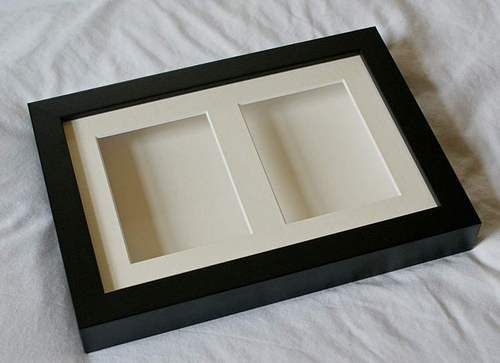 deep shadow box double display frame 9 x 6 for medals pocket watches - Shadow Box Frames