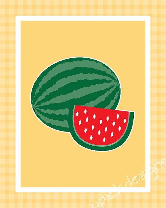 Http://www.etsy.com/listing/96415355/digital  · Fruit Kitchen DecorCook Art Watermelon ...