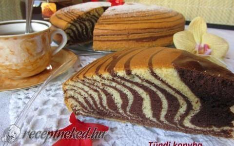 Zebratorta recept fotóval