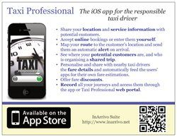 Taxi professional flyer to be distributed in England.