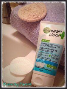 "RAINCITY PARENT ""Garnier's Clean + for Sensitive Skin removes stubborn makeup and calms sensitive skin"""
