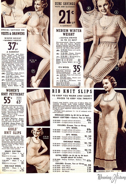 1930s thermal underwear