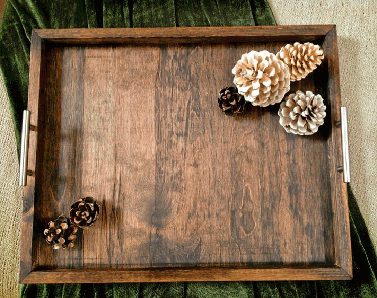 The Horizon Handcrafted Wood Serving Tray - (Large) Ottoman tray, rustic tray, coffee table tray, breakfast tray, tv tray by BoondocksWest on Etsy