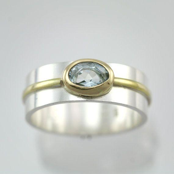 1 piedra Oval Wrap anillo de 14K por LaineBenthalldesigns en Etsy