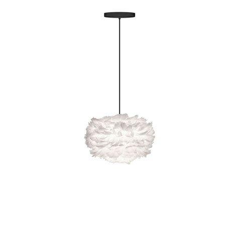 Eos Mini White Pendant with Black Canopy