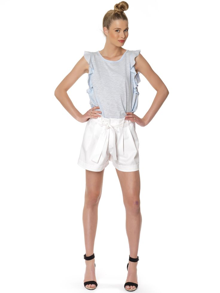 Regalinas high rise pleated shorts