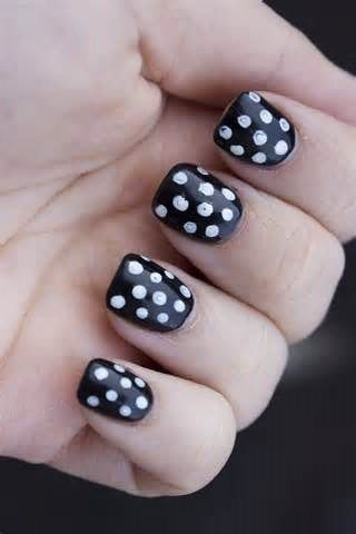 Black Nail Art Design Ideas