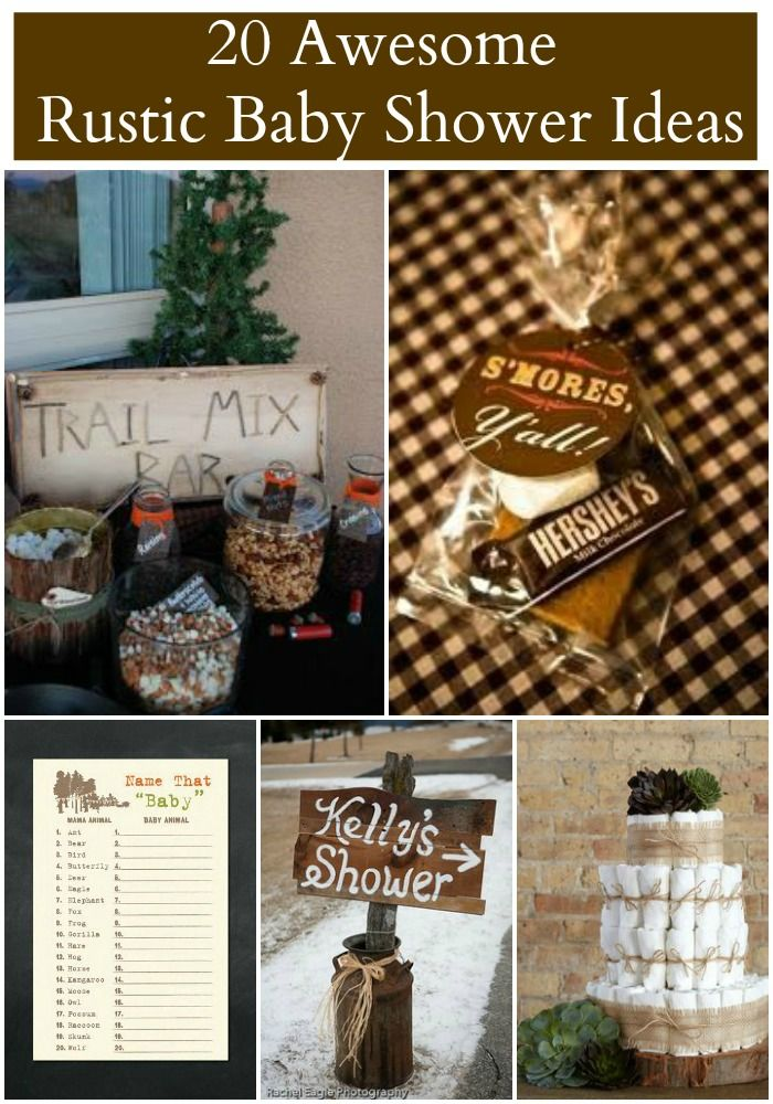 20 Rustic Baby Shower Ideas 84 best